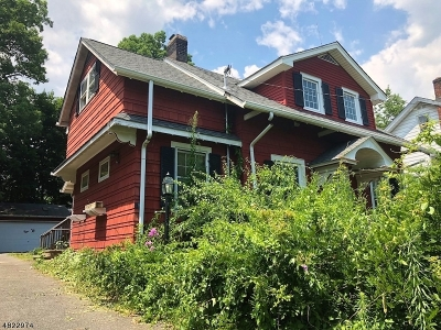 Nutley Twp. Single Family Home For Sale: 69 Overlook Ter