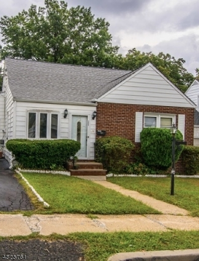 HILLSIDE Single Family Home For Sale: 1069-1071 Voorhees St