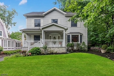 South Orange Village Twp. Single Family Home For Sale: 346 Richmond Ave