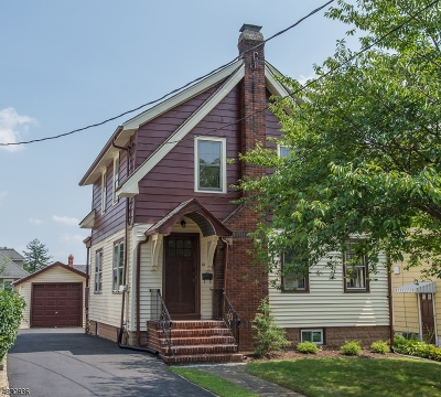Nutley Twp. Single Family Home For Sale: 20 Linden Pl