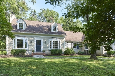 WATCHUNG Single Family Home For Sale: 417 Valley Rd