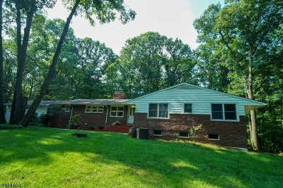 WATCHUNG Single Family Home For Sale: 170 W Oakwood Rd