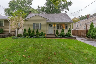 RAHWAY Single Family Home For Sale: 182 Madison Ave