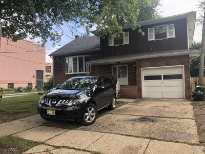 ELIZABETH Single Family Home For Sale: 231 Springfield Rd