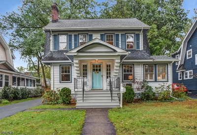 Maplewood Twp. Single Family Home For Sale: 12 Bowdoin St