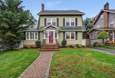 Cranford Twp. Single Family Home For Sale: 21 Parker Ave