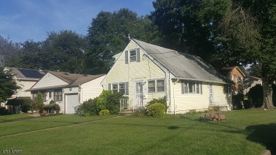 Plainfield City NJ Single Family Home For Sale: $189,999