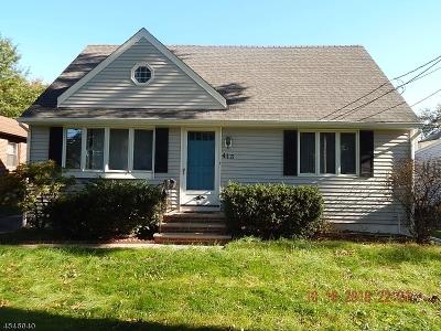 Scotch Plains Twp. Single Family Home For Sale: 413 Henry St