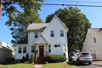 ROSELLE PARK Single Family Home For Sale: 721 Filbert St