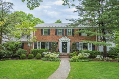 South Orange Village Twp. Single Family Home For Sale: 35 Speir Dr