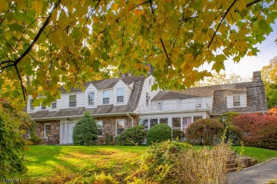 South Orange Village Twp. Single Family Home For Sale: 265 Wyoming Avenue