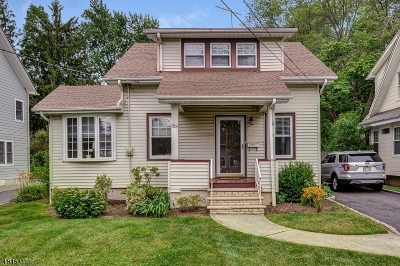 MOUNTAINSIDE Single Family Home For Sale: 319 Central Ave