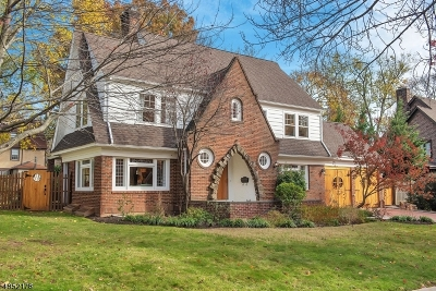 South Orange Village Twp. NJ Single Family Home Active Under Contract: $789,900