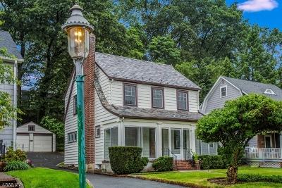 Glen Ridge Boro Twp. Single Family Home For Sale: 44 Chapman Pl
