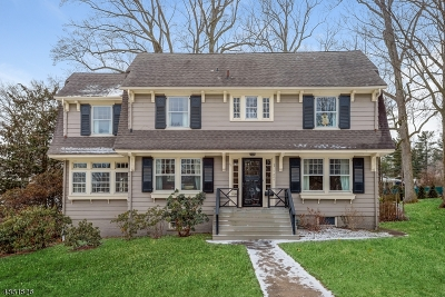 South Orange Village Twp. NJ Single Family Home For Sale: $989,000