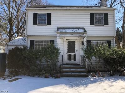 South Orange Village Twp. Single Family Home For Sale: 312 Clark St