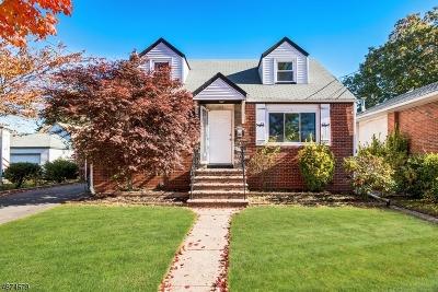 ROSELLE PARK Single Family Home For Sale: 109 Sherman Ave