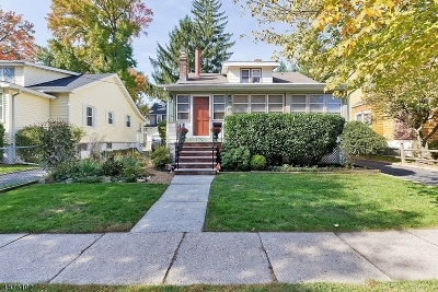 Cranford Twp. Single Family Home For Sale: 309 Manor Ave
