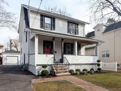 CRANFORD Single Family Home For Sale: 7 Edgebrook Pl