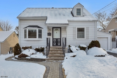 Nutley Twp. Single Family Home For Sale: 25 Plymouth Rd
