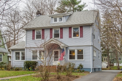 Montclair Twp. Single Family Home For Sale: 152 Grove St