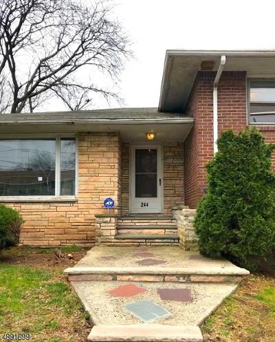 HILLSIDE Single Family Home For Sale: 244 Crystal Ter