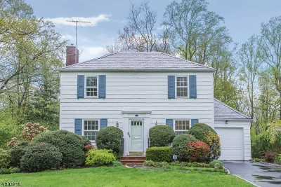 Millburn Twp. Single Family Home For Sale: 42 Exeter Rd