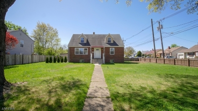 Colonia Single Family Home For Sale: 221 Inman Ave