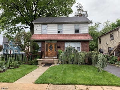 HILLSIDE Single Family Home For Sale: 348 Sanford Ave