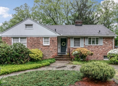 Mountainside Boro Single Family Home For Sale: 348 Forest Hill Way