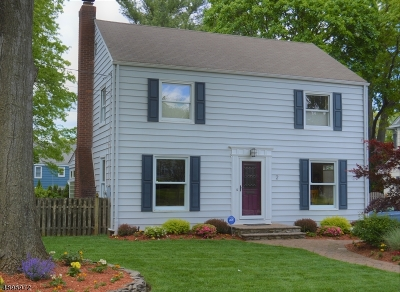 Montclair Twp. Single Family Home For Sale: 2 Mt Vernon Rd