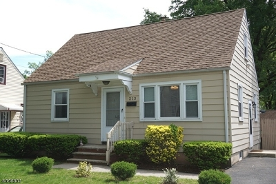 RAHWAY Single Family Home For Sale: 213 Villa Pl