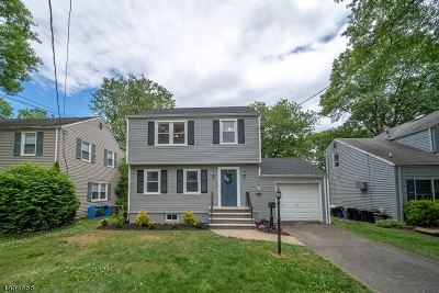 Rahway, Rahway City Single Family Home For Sale: 115 Richmond Ter