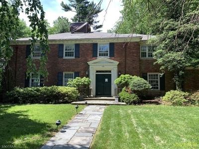 South Orange Village Twp. Single Family Home For Sale: 420 Overhill Rd