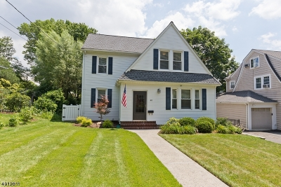 Maplewood Twp. Single Family Home For Sale: 40 Suffolk Ave