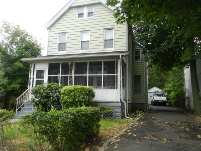 South Orange Village Twp. Single Family Home For Sale: 456 Valley St