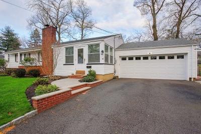 Fanwood Boro Single Family Home For Sale: 191 Vinton Cir