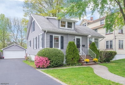CRANFORD Single Family Home For Sale: 5 Fourth Ave