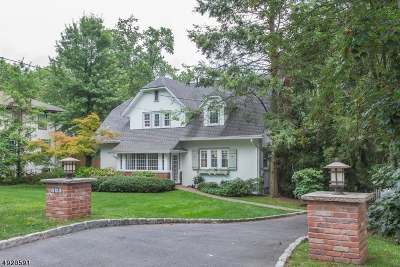 Millburn Twp. Single Family Home For Sale: 388 Wyoming Ave