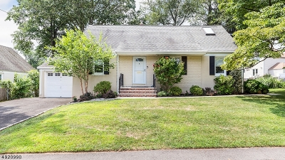 Cranford Twp. Single Family Home For Sale: 6 Ramapo Rd