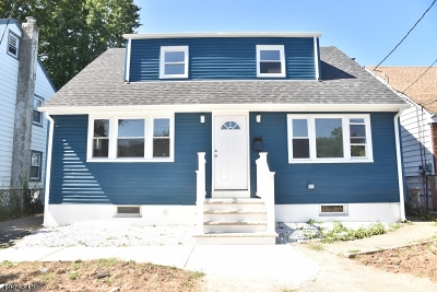 Rahway, Rahway City Single Family Home For Sale: 1658 Montgomery St