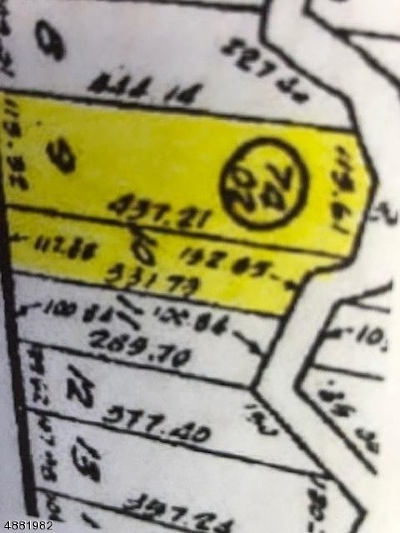 Vernon Twp NJ Residential Lots & Land For Sale: $99,000