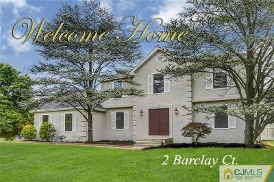 Somerset County Single Family Home For Sale: 2 Barclay Court