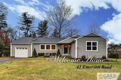 Somerset County Single Family Home For Sale: 41 Emerson Road
