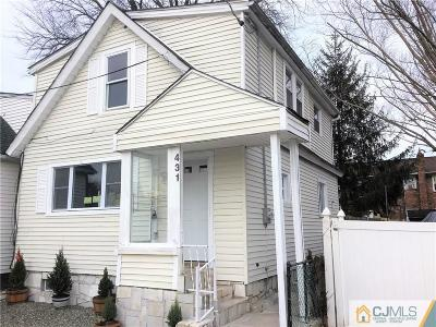 Perth Amboy Single Family Home For Sale: 431 Baker Place