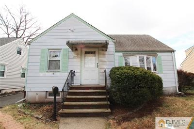 Rahway Single Family Home For Sale: 280 Plainfield Avenue