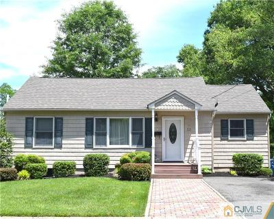 Metuchen Single Family Home For Sale: 50 Homer Place