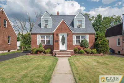 RAHWAY Single Family Home For Sale: 1291 Madison Hill Road