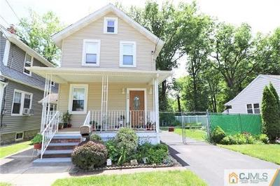 Rahway Single Family Home For Sale: 258 Orchard Street