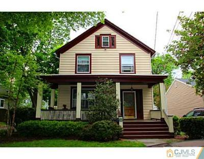 Metuchen Single Family Home For Sale: 59 Home Street